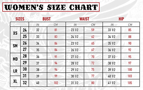 Silver Jeans Size Guide - Xtellar Jeans